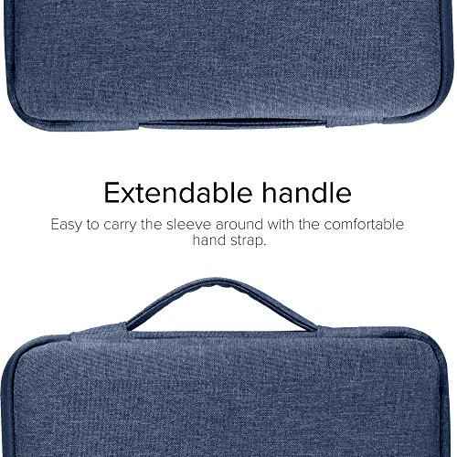 GMYLE 2 in 1 Bundle Soft-Touch Frosted Hard Case for Macbook Air 13 inch (Model: A1369/A1466) and 13-13.3 inch Water Repellent Laptop Sleeve with Handle and Pocket - Navy Blue by GMYLE (Image #3)