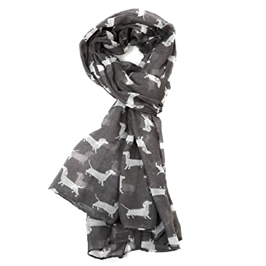 LADIES BLUE DACHSHUND DOG  SAUSAGE DOG DOG PRINT SCARF WRAP GREAT GIFT IDEA