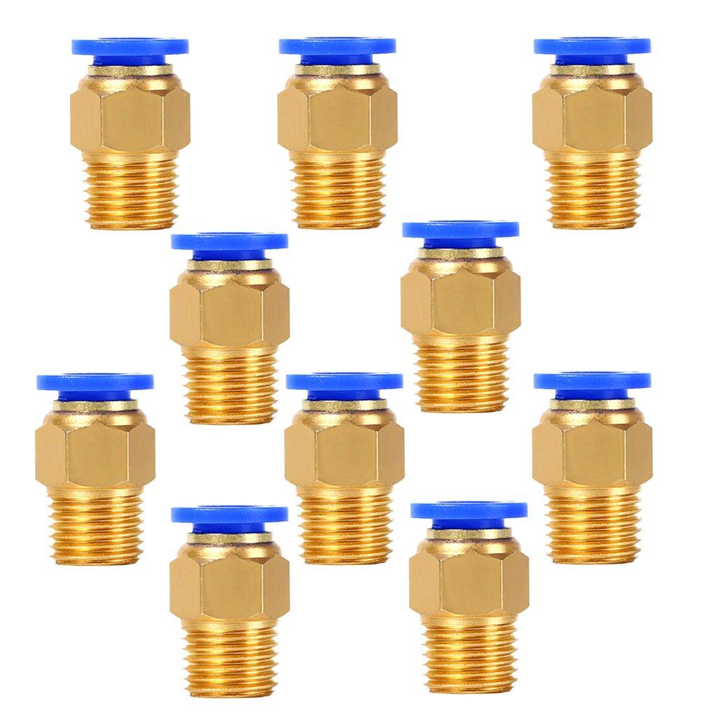 Fenteer Conector Traqueal Hembra De Lat/ón Tubo De Manguera Recta Tubo De Rosca Acoplamiento Conector 5/×12,7 mm ID 1//4