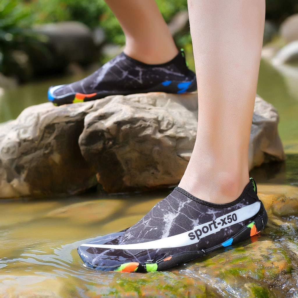Zapatillas De Esn/órquel En La Playa para Hombres Y Mujeres Zapatos De Buceo Zapatos para Nadar Y Nadar Zapatos para Nadar C/ómodo Y De Secado R/ápido Zapatos De Agua
