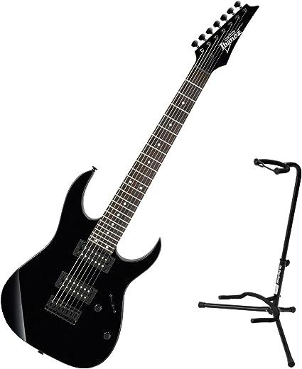 Ibanez GRG7221 – Guitarra eléctrica (7 cuerdas negro w/soporte ...