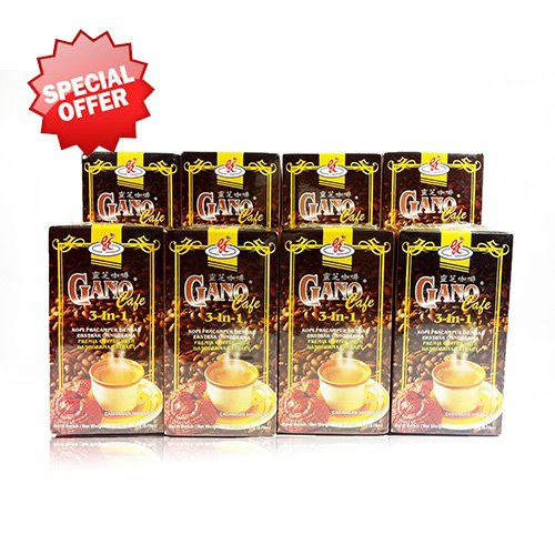 8 Boxes Gano Cafe 3-in-1 By Gano Excel USA Inc. - 160 Sachets by Gano Excel