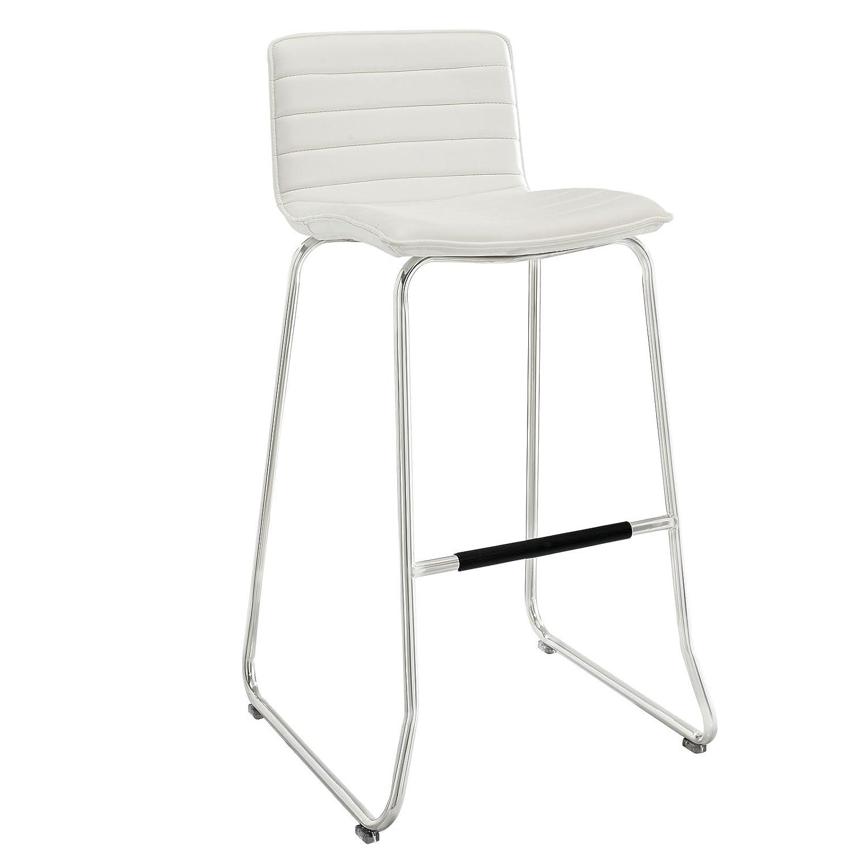 amazon com modway dive bar stool white kitchen dining