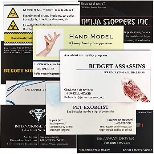 Funny Fake Business Cards - Gag Gift for Men, Women, Friend, Coworker (Variety Pack)