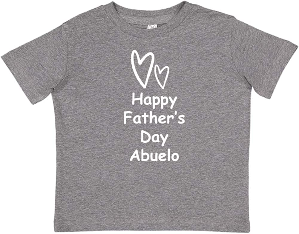 Mashed Clothing Happy Fathers Day Abuelo Toddler//Kids Short Sleeve T-Shirt Two Hearts