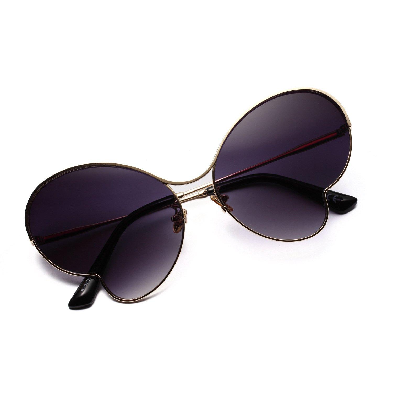 SEXSUNG - Gafas de Sol para Ciclismo (Metal, Gafas de ...