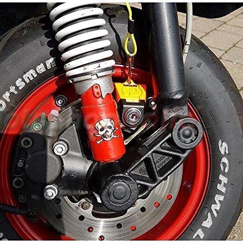 Yamaha R6 Oxford SCOOT XA5 Alarm Disc Lock Security Motorcycle Orange LK288