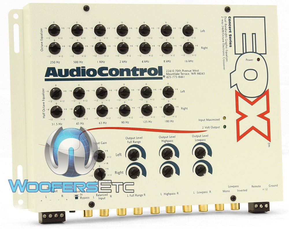 AudioControl EQX Pre-Amp Equalizer Crossover White