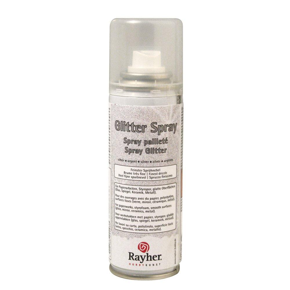 Rayher - 3400122 - Glitter-Spray, 125 ml, silber: Amazon.de: Küche ...