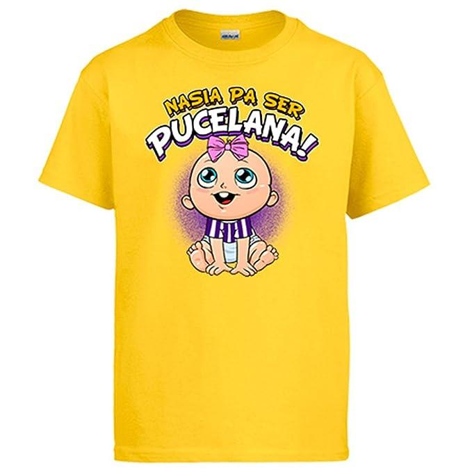 Camiseta nacida para ser Pucelana Valladolid fútbol  Amazon.es  Ropa y  accesorios eb15bf88aaa77