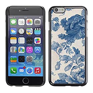 Soft Silicone Rubber Case Hard Cover Protective Accessory Compatible with Apple iPhone? 6 (4.7 Inch) - vignette blue porcelain wallpaper