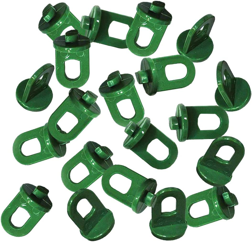 EREACH Plant Hangers for Greenhouse - 20-Count, Plastic Hanging Baskets for Plants, Greenhouse Plant Clips Hook Accessories