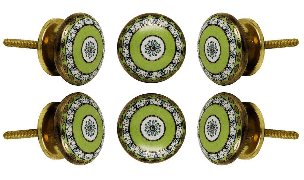 gris Poign/ée Tessellate en c/éramique par Trinca-ferro Set of 2