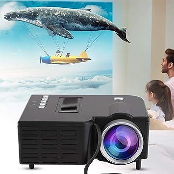 Tosuny Mini Proyector 320X180 Resolución AV/USB/TF Tarjeta LED ...