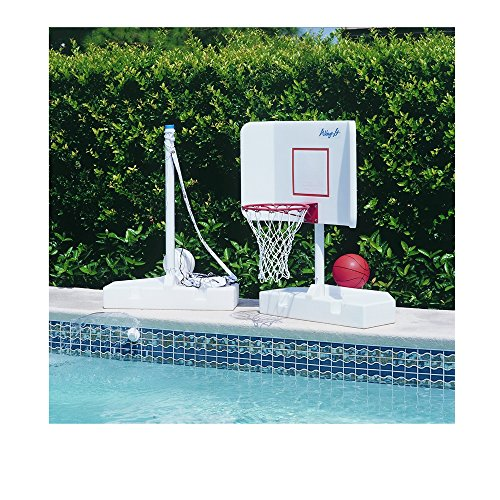 Pool Volleyball/Basketball Set by Pool Shot - Spike N Splash Combo by Pool Shot