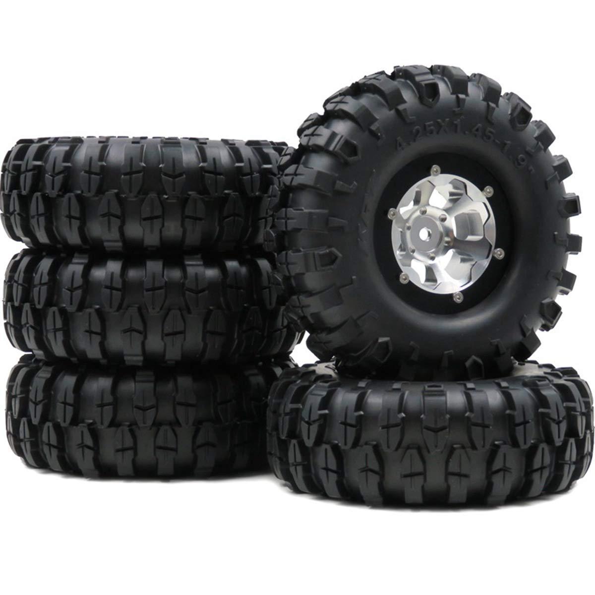 hobbysoul 5ピース RC 1.9 クローラータイヤ 5ピース 108mm & & 1.9インチ 108mm アルミ ビーズロックホイール リムRC4WD Axial B07JJ2KXVC, 豊後高田市:2da4793c --- 2chmatome2.site