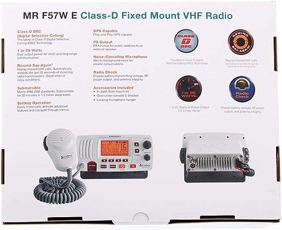Cobra Emisora VHF Fija MR F57W: Amazon.es: Electrónica