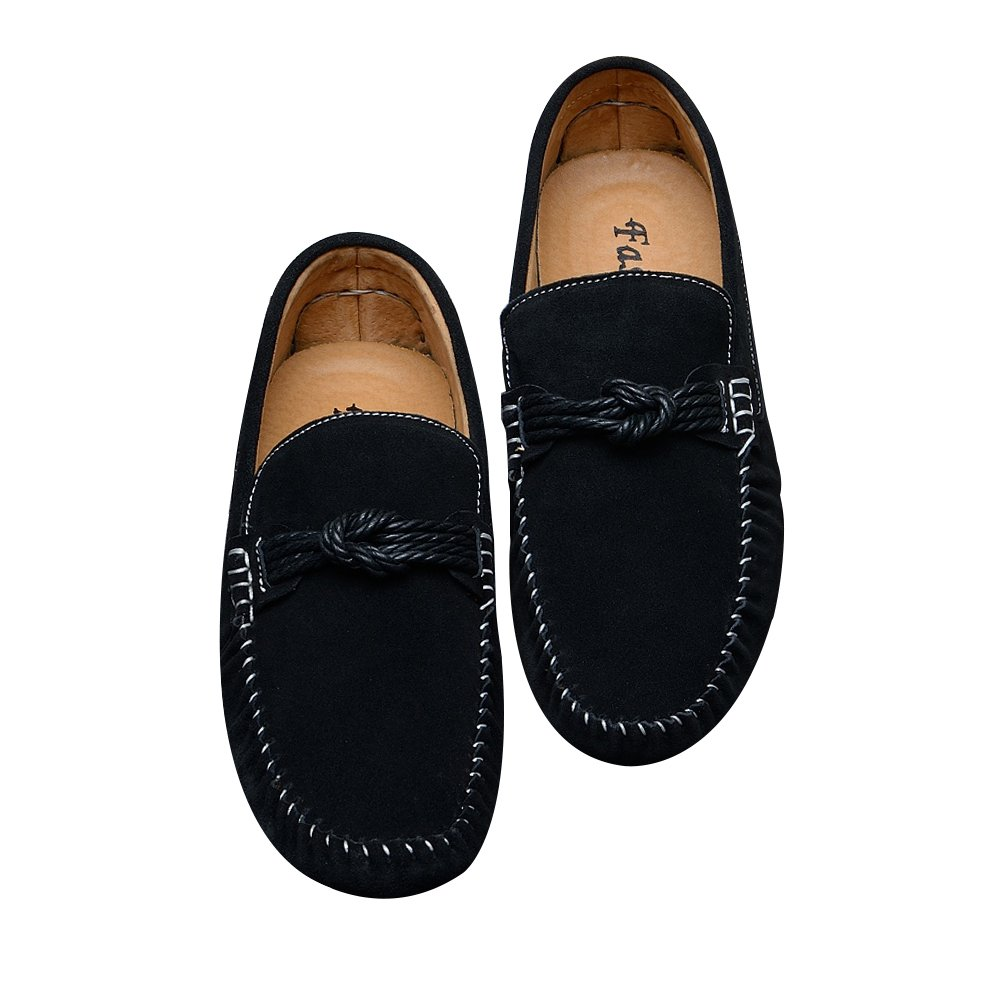 Amazon.com   EnllerviiD Mens Flat Heel Slip On Driving Car Loafers Shoes, Black Suede Leather, 8(M) US   Loafers & Slip-Ons