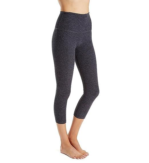 8eb10283e8 Beyond Yoga Spacedye Walk and Talk High Waisted Capri Legging, Black Steel,  XX-