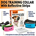 Pawious Bark Collar [Upgraded 2019] - Humane No Shock Rechargeable Anti Barking Collar for Small and Medium Dogs - 4 Color Faceplates, No Harmful Prongs for Dog, Sound, Vibration, 7 Sensitivity Levels