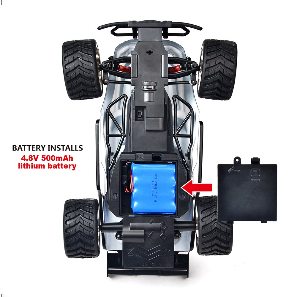 Distianert 1:16 Scale Electric RC Car Off Road Vehicle 2.4GHz Radio Remote Control Car 2W High Speed Racing Monster Truck by Distianert (Image #6)