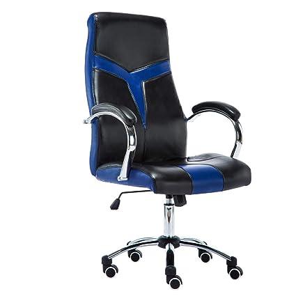 Executive Knight cuir Chaise de bleu bureau noir Chaise JR et de bureauimitation 2IDYeW9EH