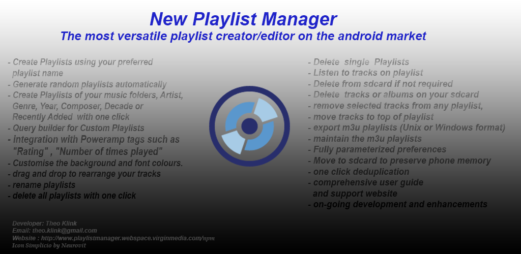 Amazon com: Free New Playlist Manager: Appstore for Android