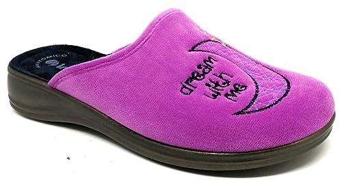 INBLU Pantofole Ciabatte Invernali da Donna Art. RA-66 Glicine (39 ... 4aa6c1640b6