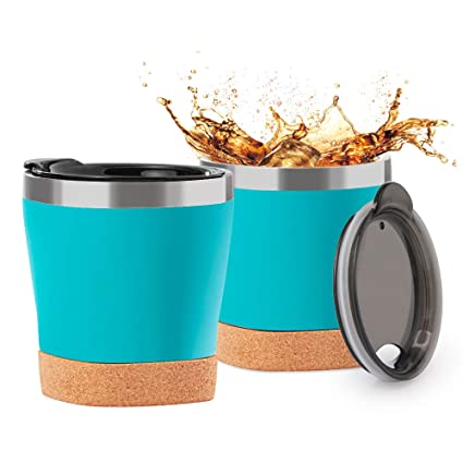 Buy TJM Stainless Steel Coffee Cup 9 oz Double Stainless Steel Insulation  Suitable for Baby Milk Cup for Children Children's Mini-Cup Blue Online at  Low Prices in India - Amazon.in
