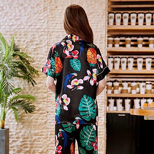 De Piezas size Pijama Xl Con Pantalón Traje Wilrnd Dos Verano Home Corto Estampado Mujer PaTUpqIw