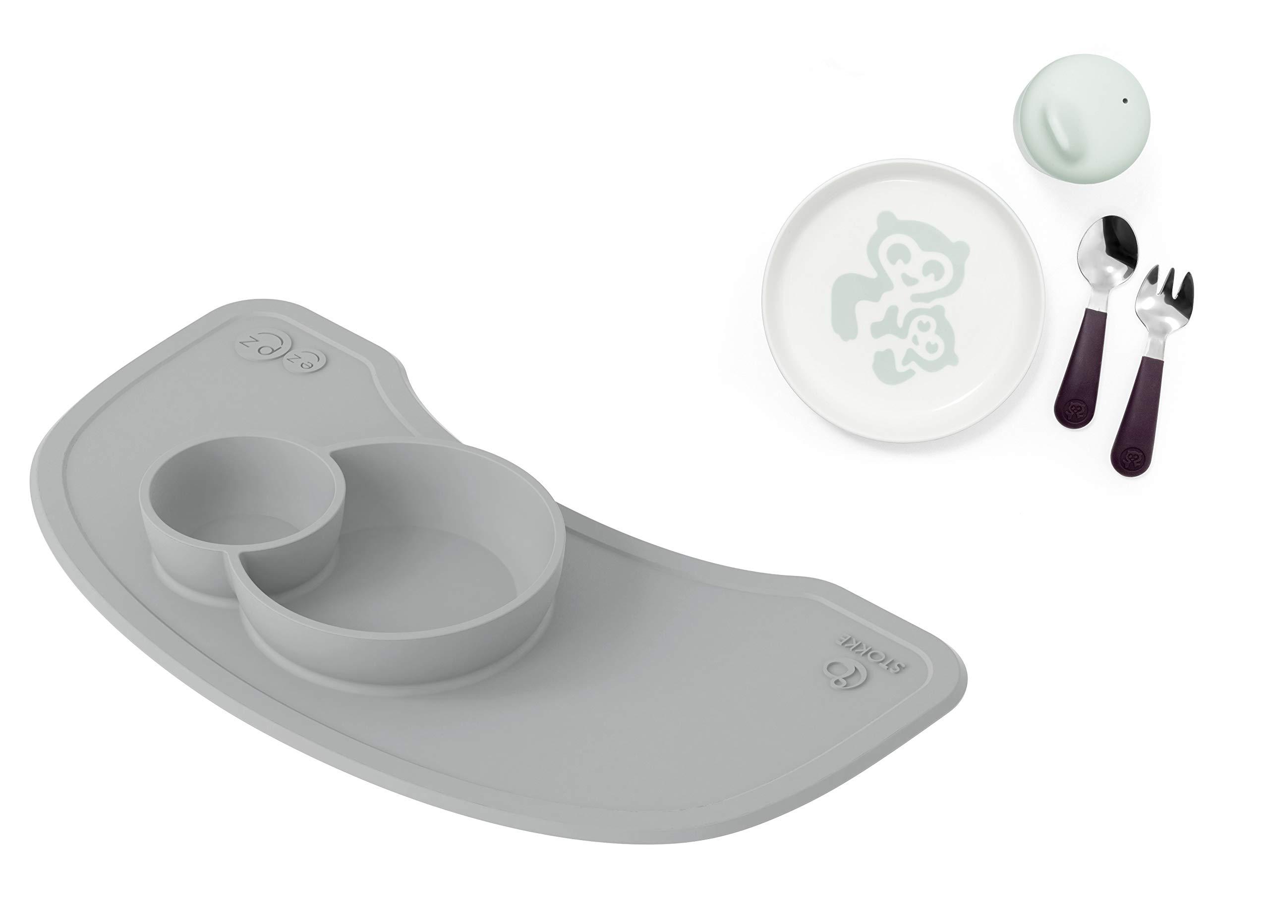 Stokke Grey EZPZ Mat + Soft Mint Munch Essentials Bundle
