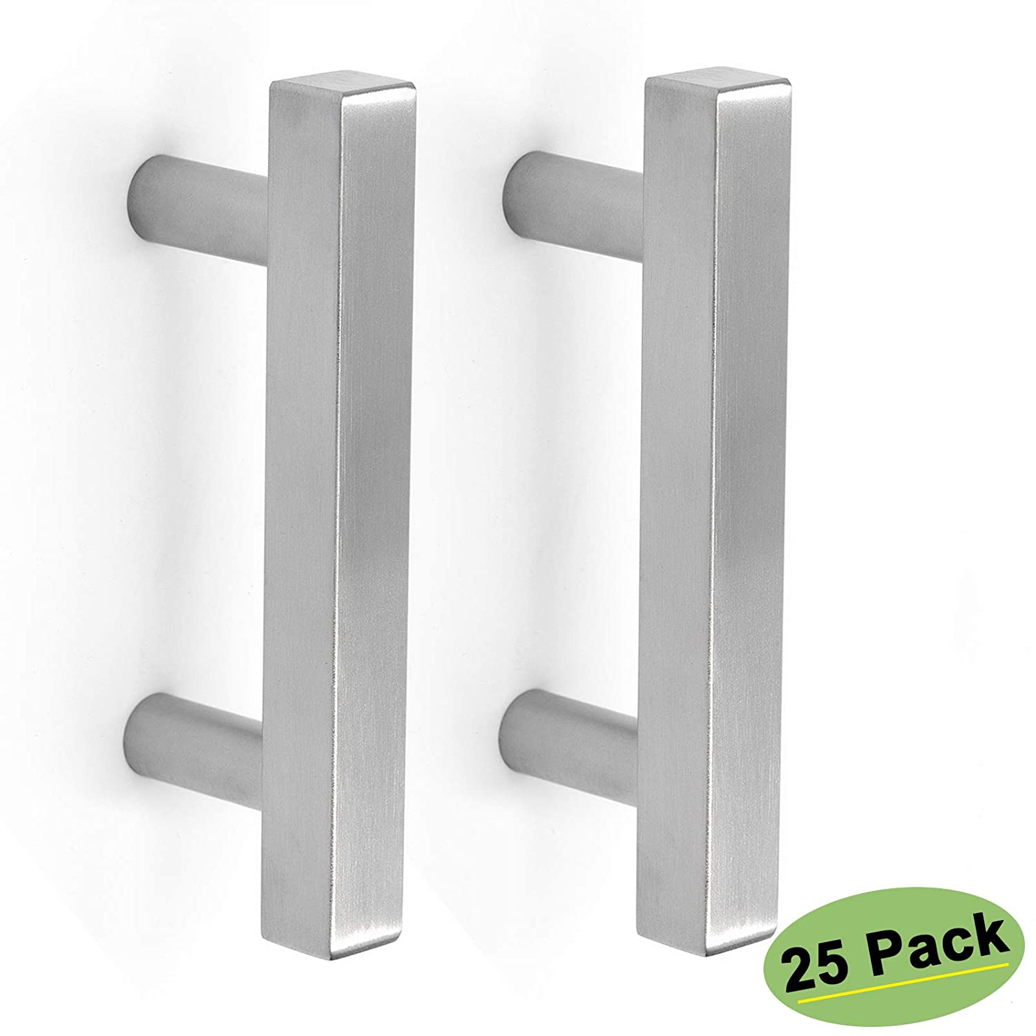 homdiy 3 in Cabinet Handles Brushed Nickel 25 Pack - HDJ22SN T Knob Cabinet Pulls 3in Cabinet Hardware Pulls Metal Drawer Pulls for Kitchen, Bathroom, Closet, Wardrobe