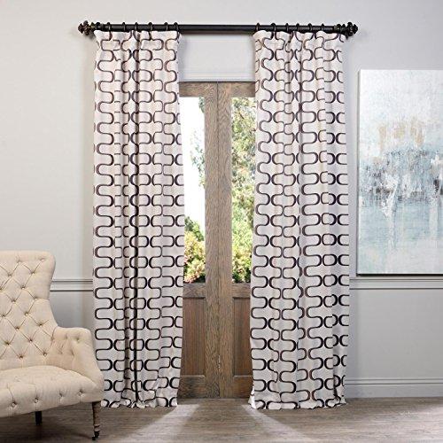 HPD HALF PRICE DRAPES BOCH-KC102A-108 Blackout Curtain, Retro Black Java For Sale