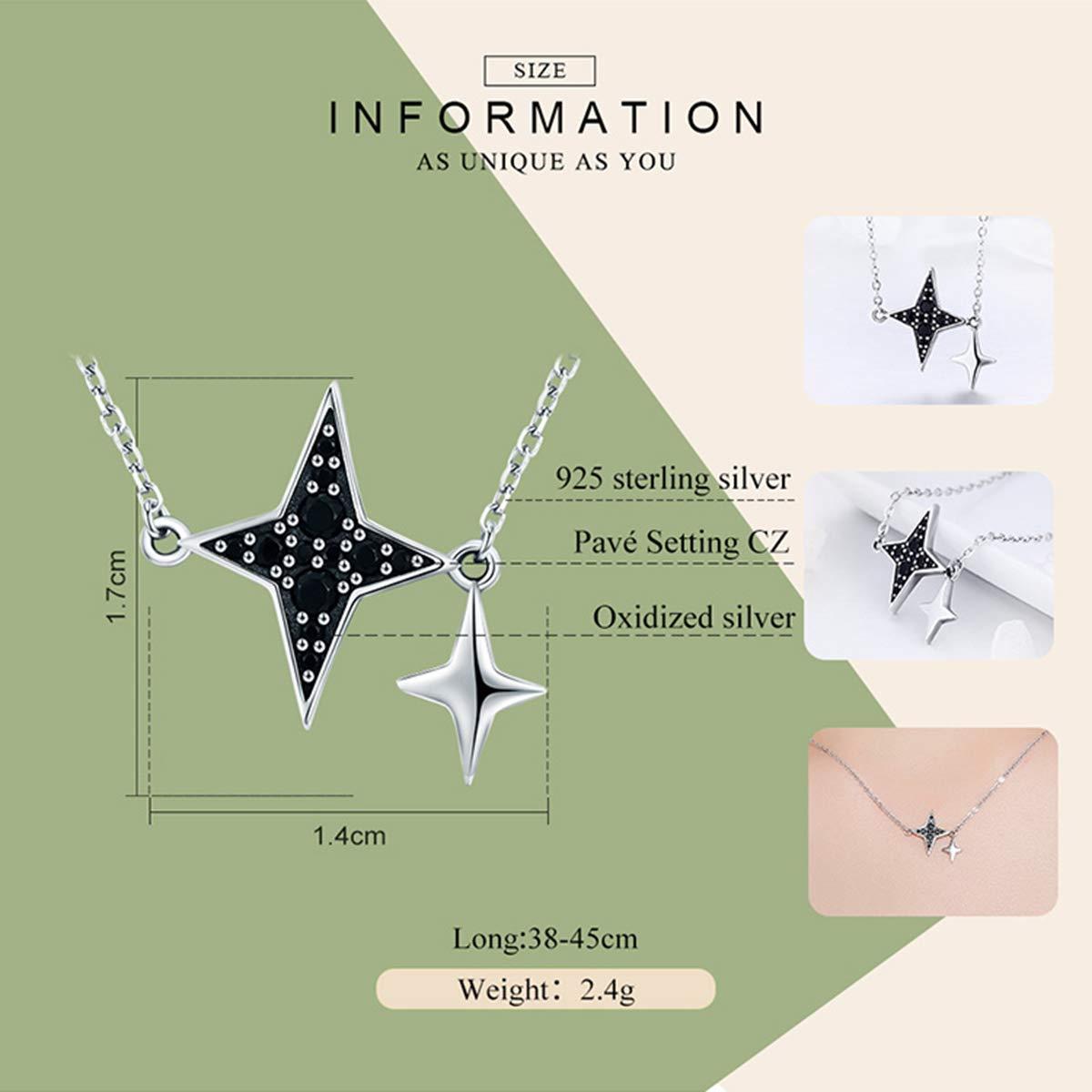 Reiko Estrella Ninja Dardo Collar Plata de Ley 925 Collar ...