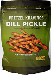 product image for Dakota Style Dill Pickle Pretzel Kravings, Crunchy Snack Pretzels, 10 Ounce, 5 Pack