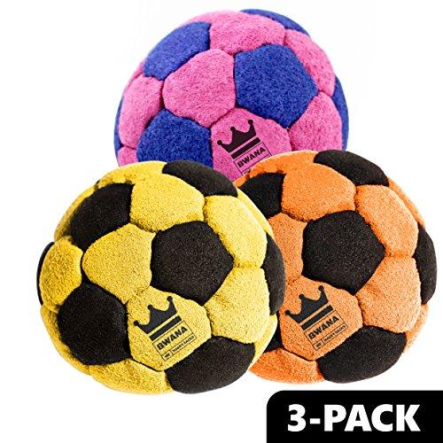 BWANA Pro Hacky Sacks-3 Pack (Bumblebee,Sunset,Cotton Candy )