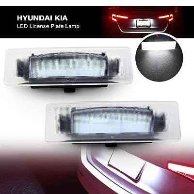 Led License Plate Lamp for Kia - NSLUMO Led License Plate Lights 12V OEM Fit for Kia Cadenza 2014-2016 Optima 06-18 Sportage 17-18 K2/K3/K5 Xenon White Led Bulbs: Automotive