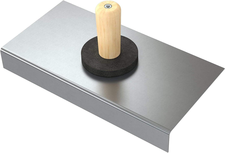 30,5 x 15,2 x 3,8 cm Talocha de acero inoxidable Bon 15-247