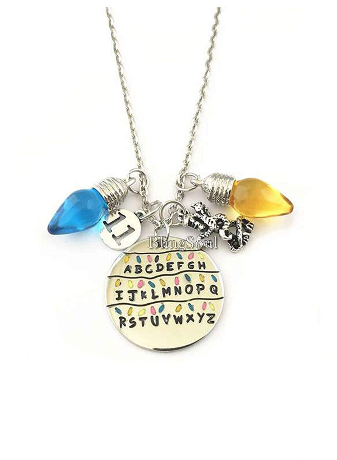 Stranger Things Necklace Jewelry Merchandise Idea - ABCD Necklace Gift Women