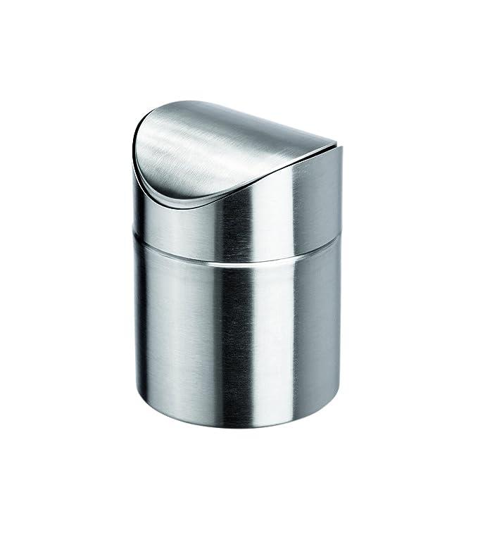 Mesa Cubo de basura de acero inoxidable - Con Tapa Giratoria ...