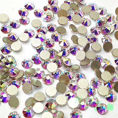 36 pcs Crystal AB (00 AB) Swarovski NEW 2088 Xirius 30ss Flat backs Rhinestones 6.4mm ()