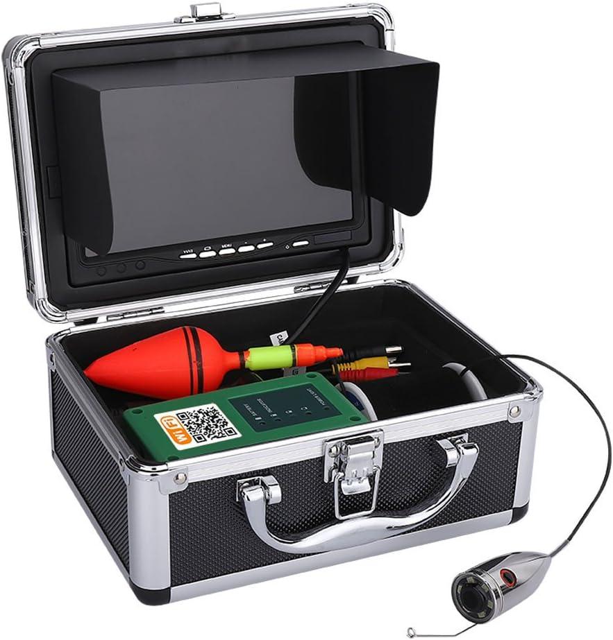Kit de c/ámara de video de pesca submarina Buscador inal/ámbrico de peces HD Wifi para la aplicaci/ón de Android IOS Admite grabaci/ón de video y toma de fotos monitor de 7 pulgadas con cable