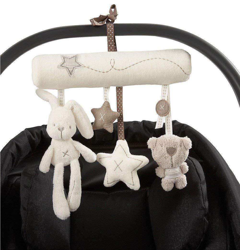 Beb/é Mignon M/úsica de Cochecito Juguetes de Peluche Colgante en Forma de Conejo Estrella Oso de Cuna Baby Stroller para Beb/é Cama Cochecito