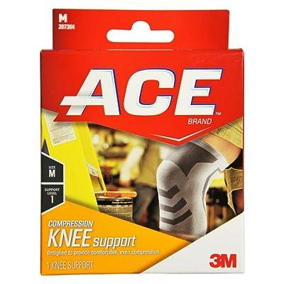ACE 207304 Tissus de coton genou Br - Taille-Medium -15,25 - 18 pouces