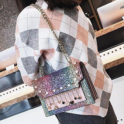 De Haute En Mode Sacs À Rivets De De Nouveaux Chaîne Qualité De Sac De À De De Bandoulière Rivets Pu D'Unité À Pailletés Cuir Centrale Messager Sac Mode GWQGZ Sac Main C6xqR7FtwR