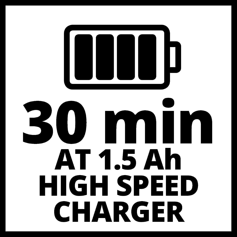Ioni di Litio Einhell 4512041 Starter Kit Batteria e Caricabatterie Power X-Change Nero-Rosso /& 3408220 Rami Ge-GS 18 Li Solo Power X-Change Spessore Taglio Archetto 90//70 mm