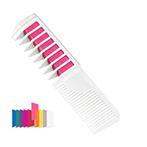 Maydear Temporary Hair Chalk Comb - Non Toxic Hair Color Comb and Safe for Kids (Wred)
