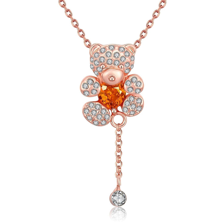 桜色♡春っぽくまネックレス♪