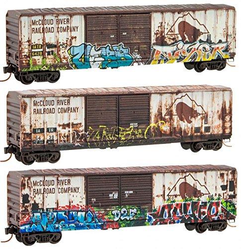 Micro-Trains 99305400 - McCloud graffiti / weathered 3-Pk - N Scale