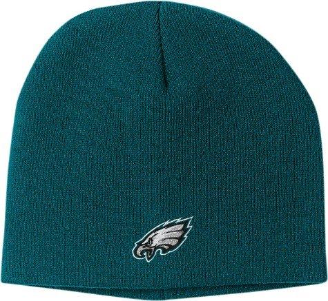 Reebok Womens Nfl Eagles (NFL Men's End Zone Uncuffed Knit Hat - K173Z (Philadelphia Eagles, One Size Fits All))